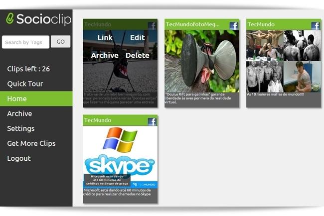 Socioclip para Google Chrome - Imagem 1 do software