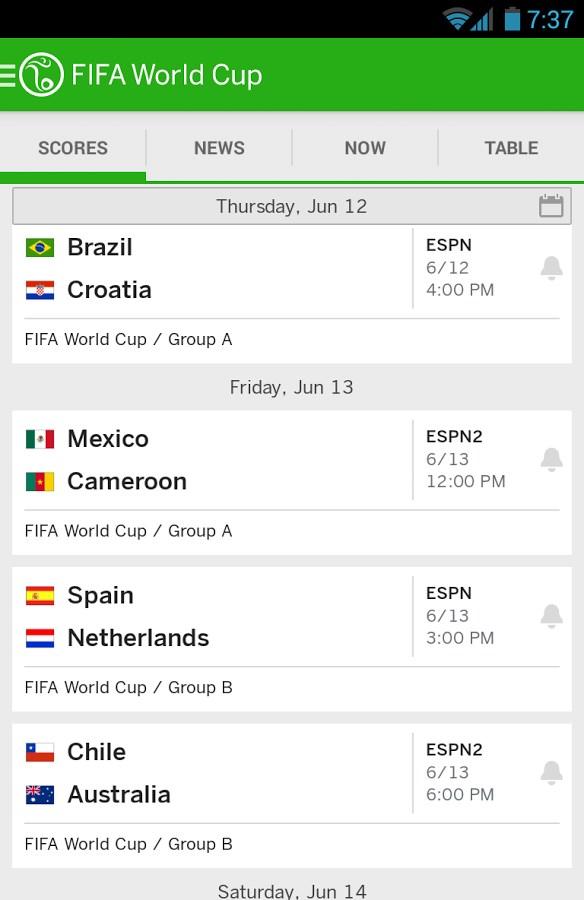 ESPN FC Soccer & World Cup - Imagem 1 do software