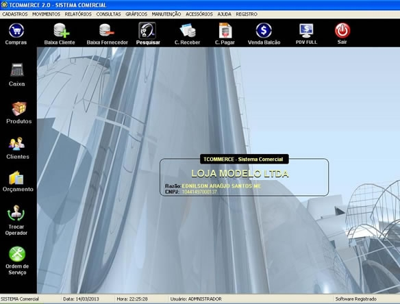 Tcommerce Plus Automação Comercial - Imagem 1 do software