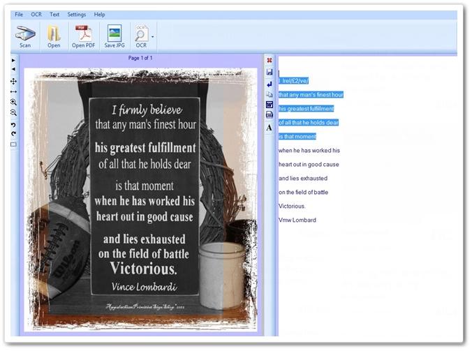 FreeOCR - Imagem 2 do software