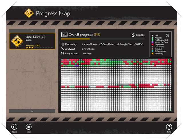 Auslogics Disk Defrag Touch - Imagem 1 do software