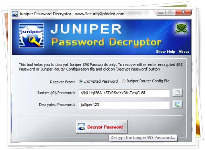 Juniper Password Decryptor - Imagem 1 do software