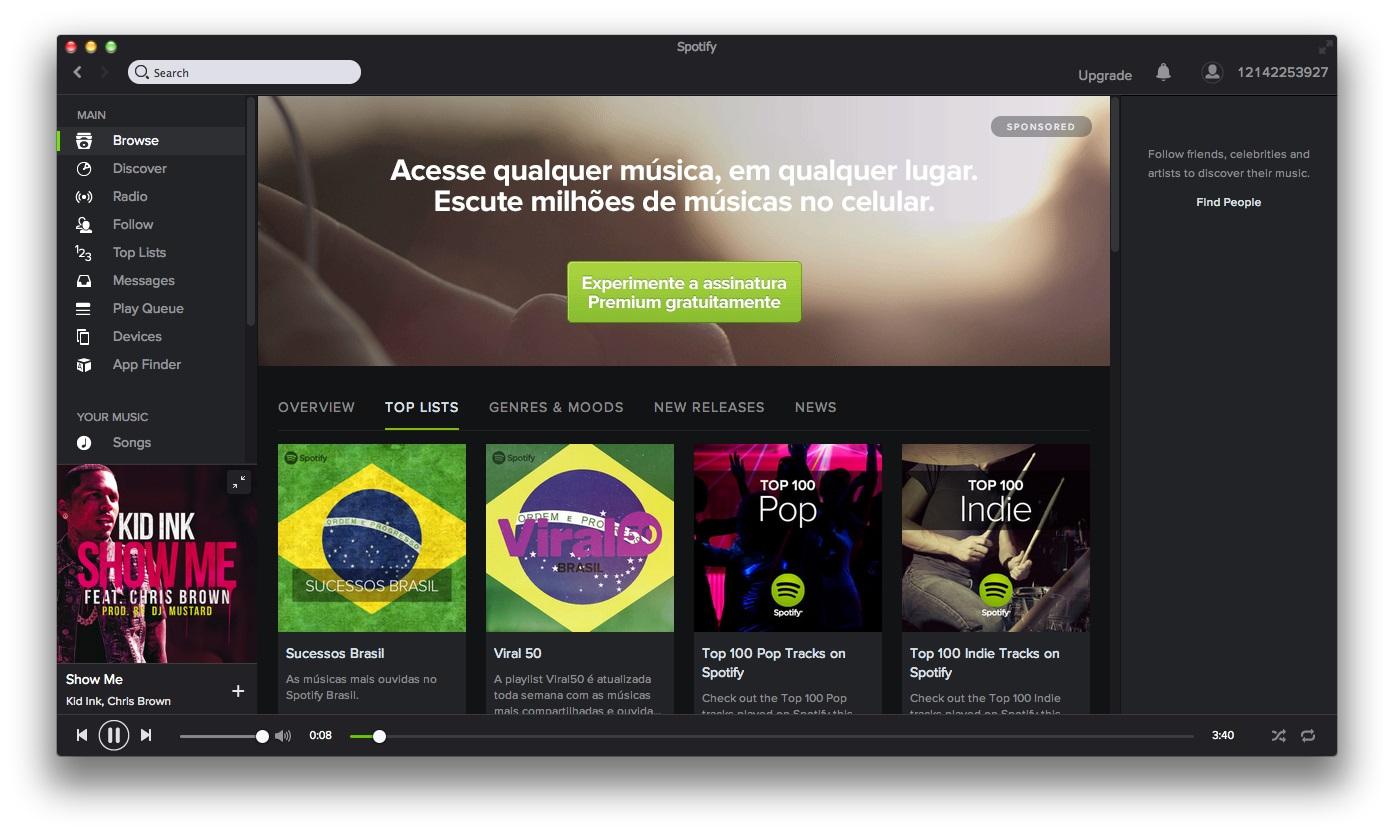 Spotify - Imagem 1 do software