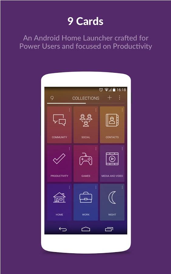 9 Cards Home Launcher - Imagem 1 do software