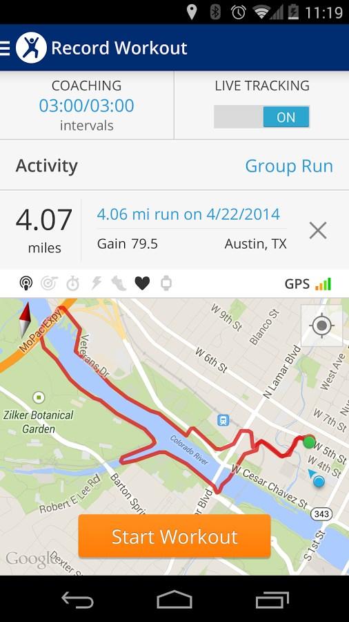 MapMyFitness Workout Trainer - Imagem 1 do software