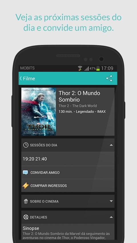 Cine Mobits - Guia de Cinemas - Imagem 2 do software