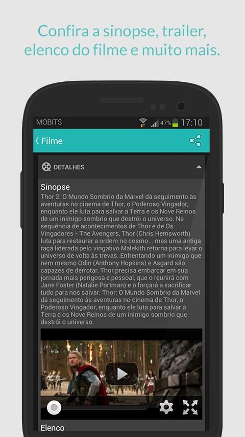 Cine Mobits - Guia de Cinemas - Imagem 4 do software