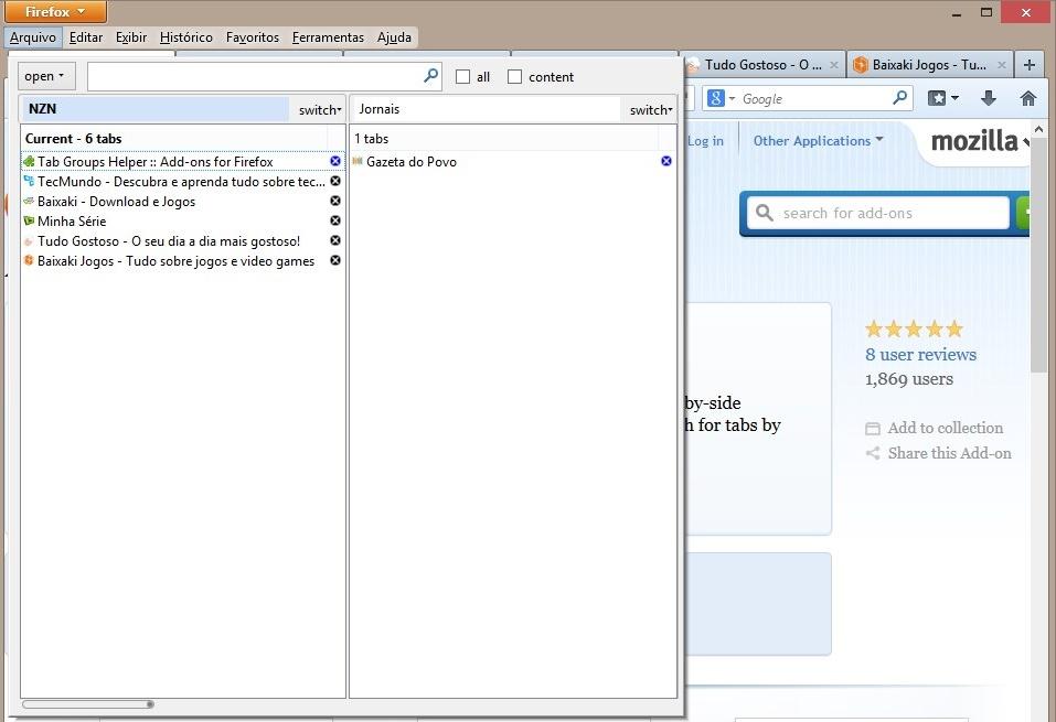 Tab Group Helper - Imagem 1 do software