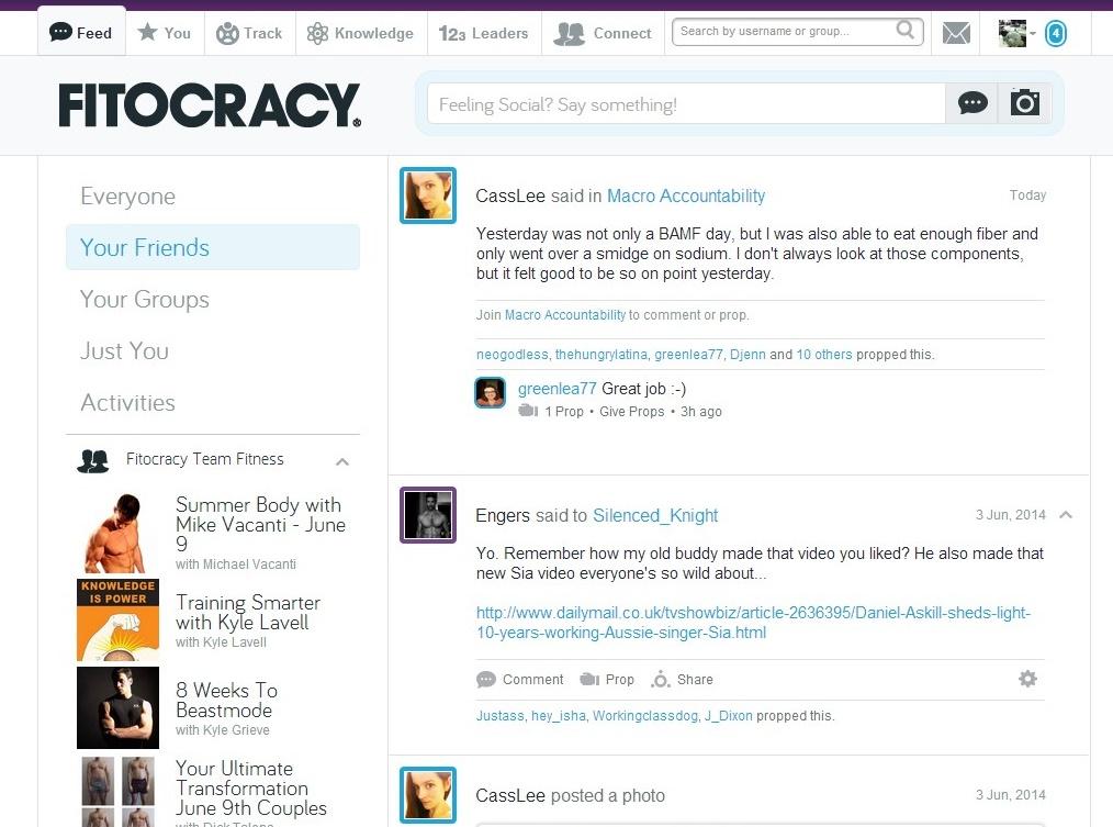 Fitocracy para Google Chrome - Imagem 1 do software