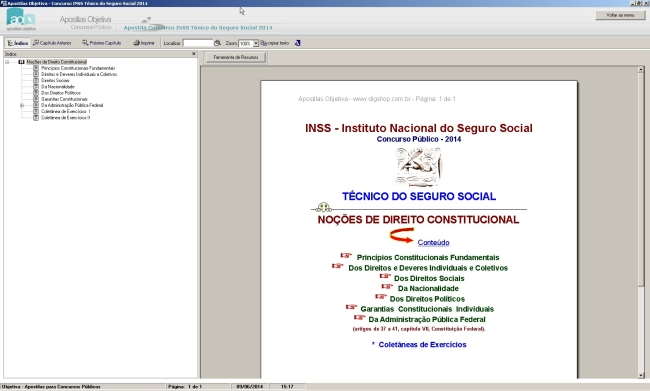 Apostila para o Concurso do INSS Técnico do Seguro Social - Imagem 1 do software