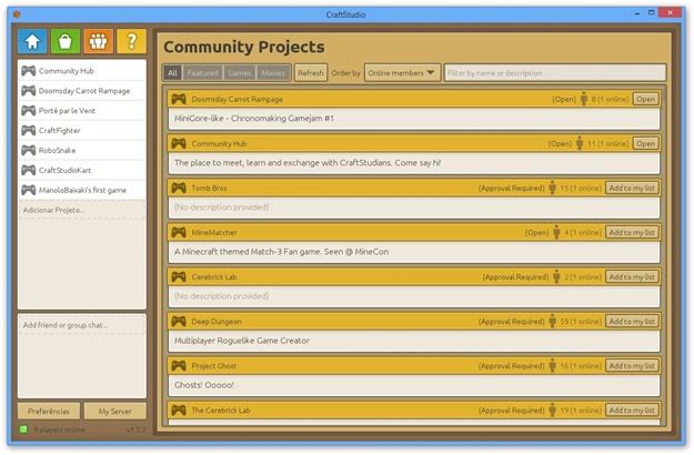 Projetos da  comunidade