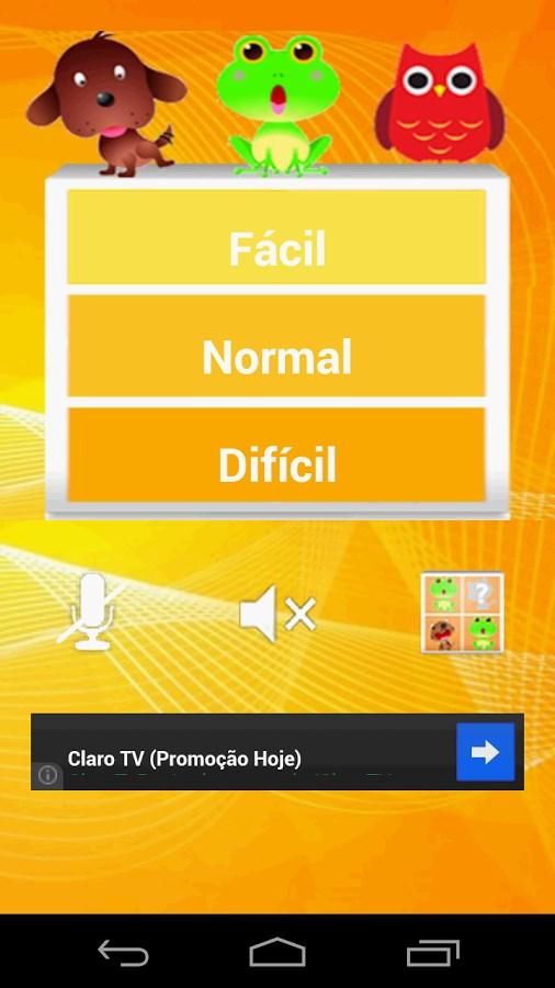 Jogo da memória : Animais - Imagem 1 do software