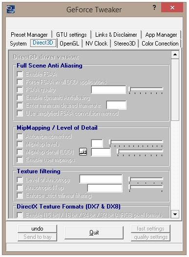 GeForce Tweakers - Imagem 1 do software