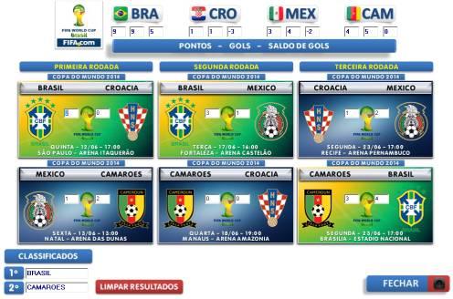 Guia e Tabela da Copa 2014 - Imagem 1 do software