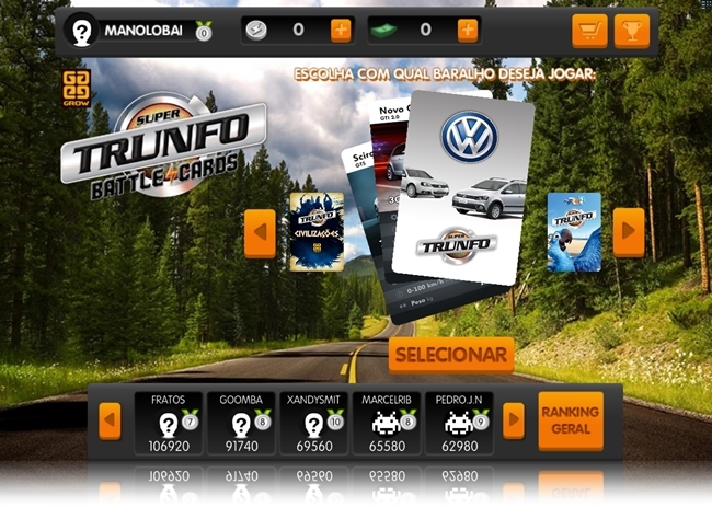Super Trunfo Battle Cards - Imagem 1 do software