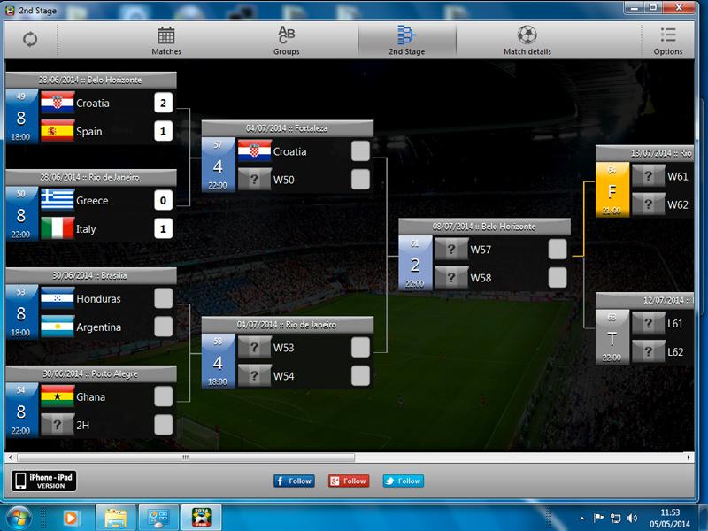 iCup Brasil 2014 - Imagem 1 do software