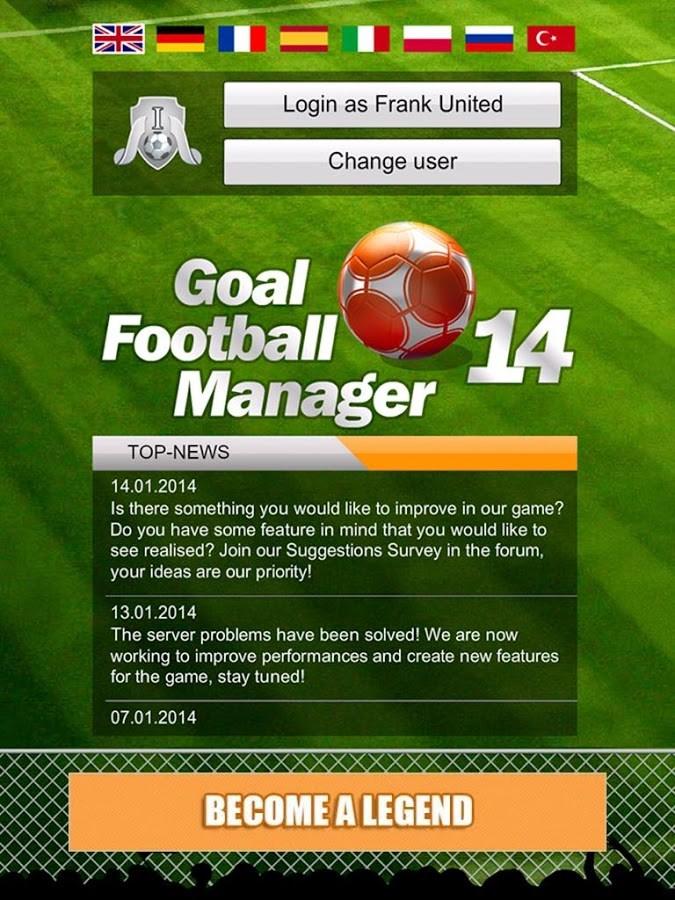 GOAL Football Manager - Imagem 1 do software