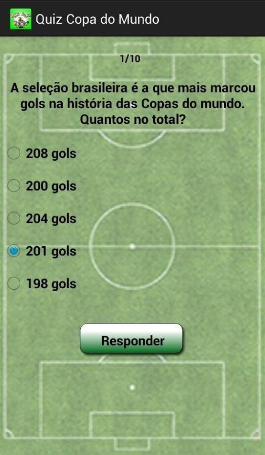 Quiz Copa do Mundo - Imagem 2 do software