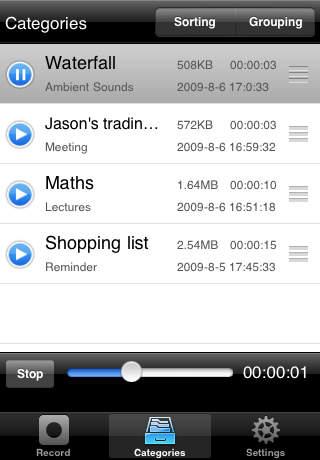 Easy Voice Recorder - Imagem 2 do software