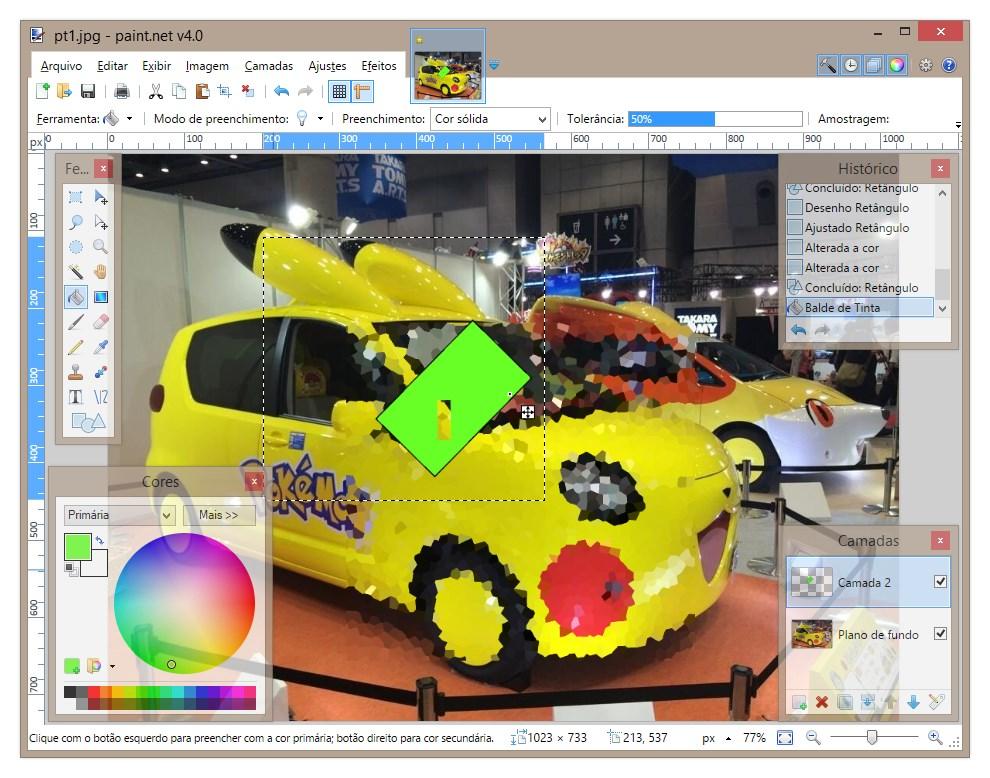 Paint.NET - Imagem 1 do software