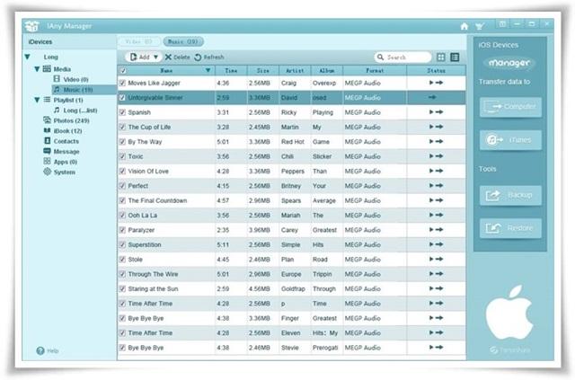 iAny Manager - Imagem 1 do software