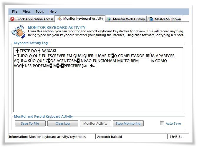 PC Parental Monitor Free - Imagem 1 do software