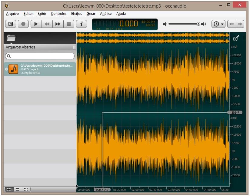 Ocenaudio - Imagem 1 do software