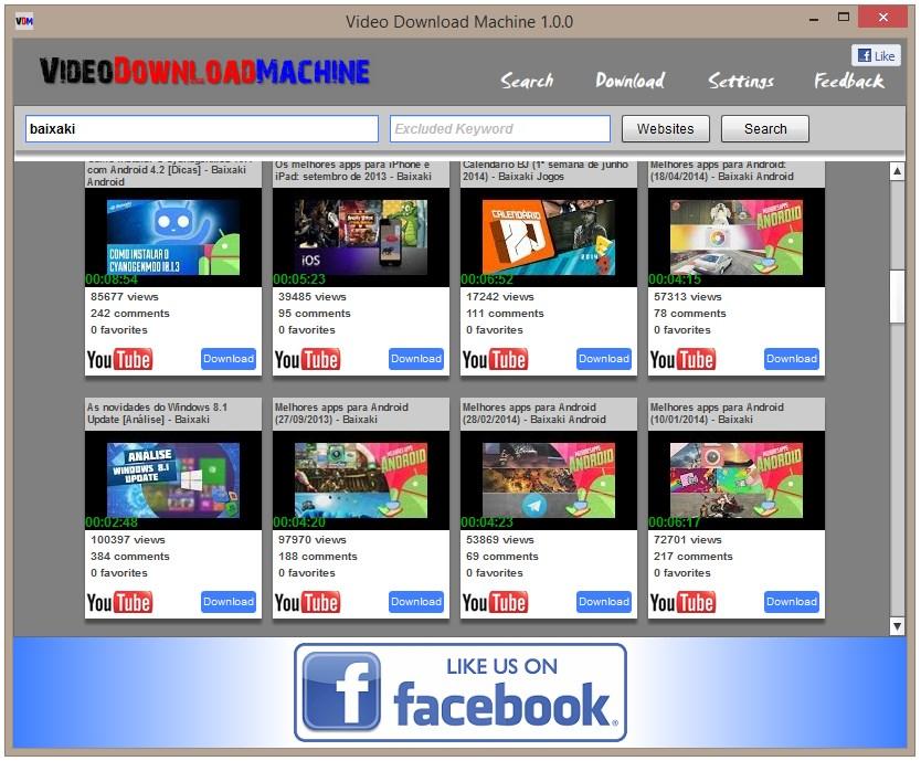 Video Download Machine - Imagem 1 do software