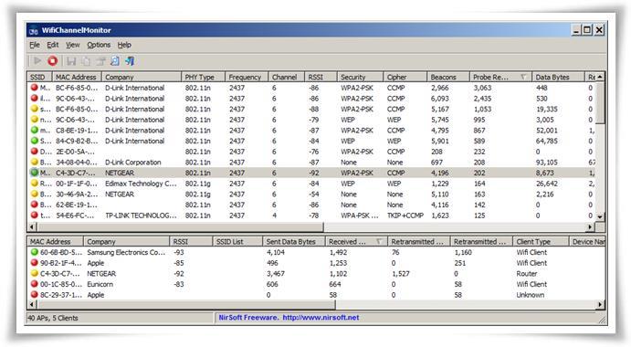 WifiChannelMonitor - Imagem 1 do software