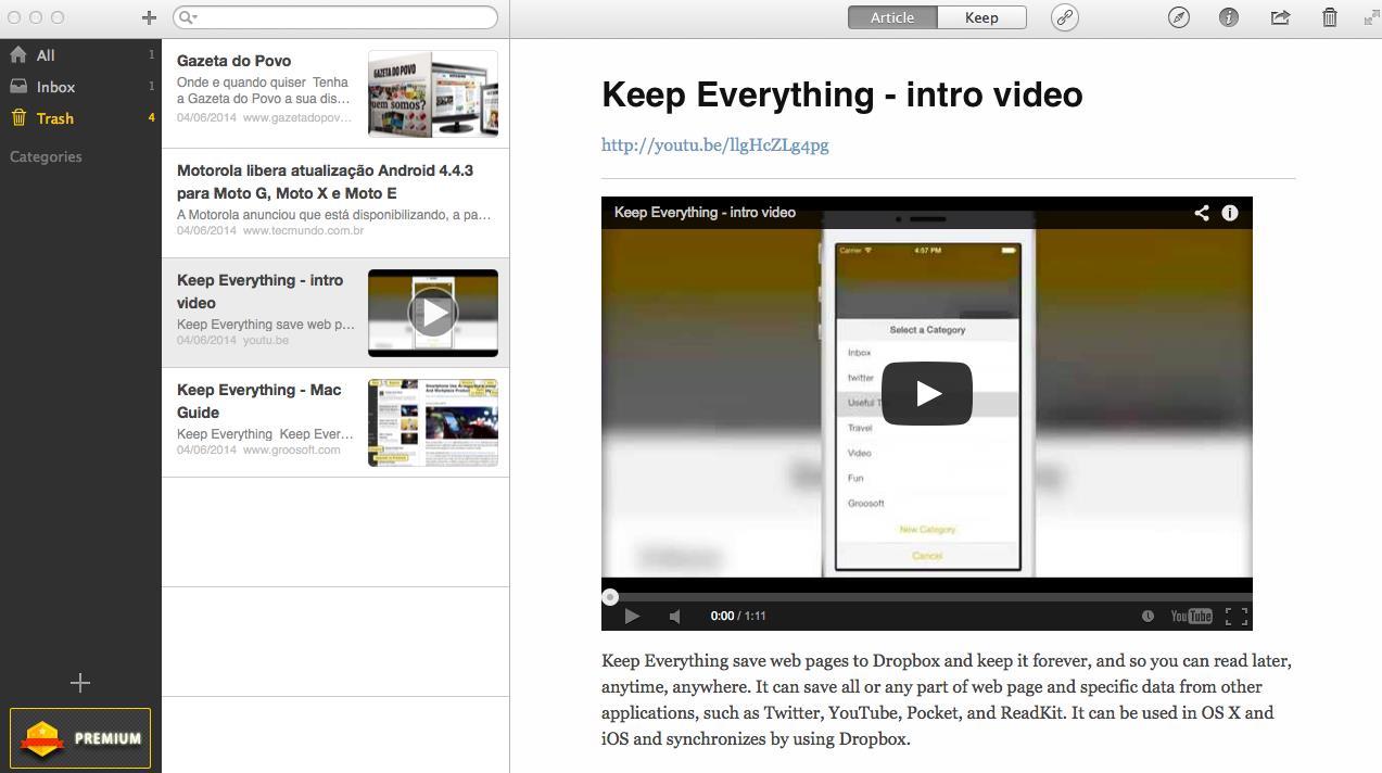 Keep Everything - Imagem 1 do software