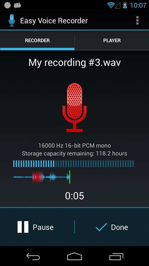 Easy Voice Recorder - Imagem 1 do software
