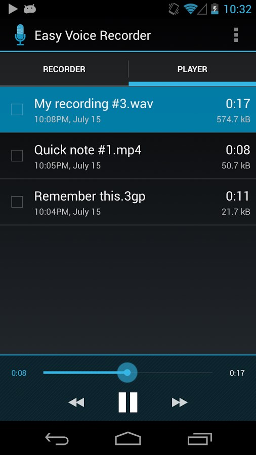 Easy Voice Recorder - Imagem 2 do software