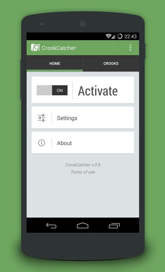 CrookCatcher – Anti Theft - Imagem 1 do software