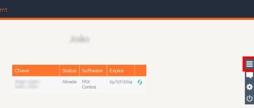 PAX Control - Imagem 4 do software