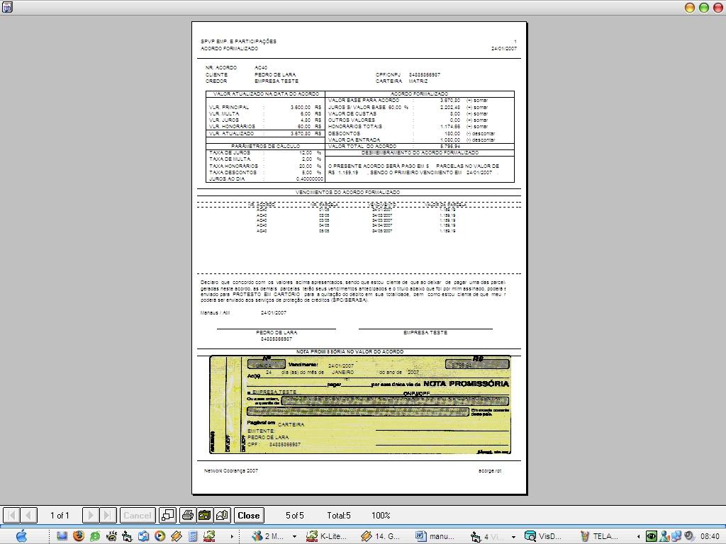 Cobrança Fácil Network - Imagem 2 do software