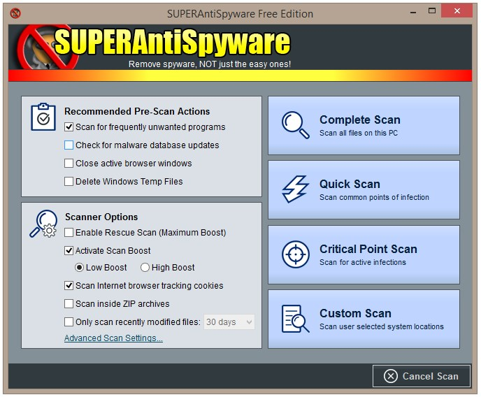 SUPERAntiSpyware Free - Imagem 2 do software