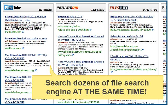 Magnet Link & Torrent File Search Engine