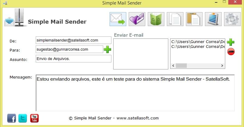 Simple Mail Sender - Imagem 2 do software