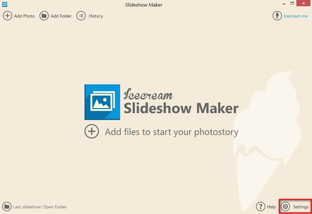 Icecream Slideshow Maker - Imagem 1 do software