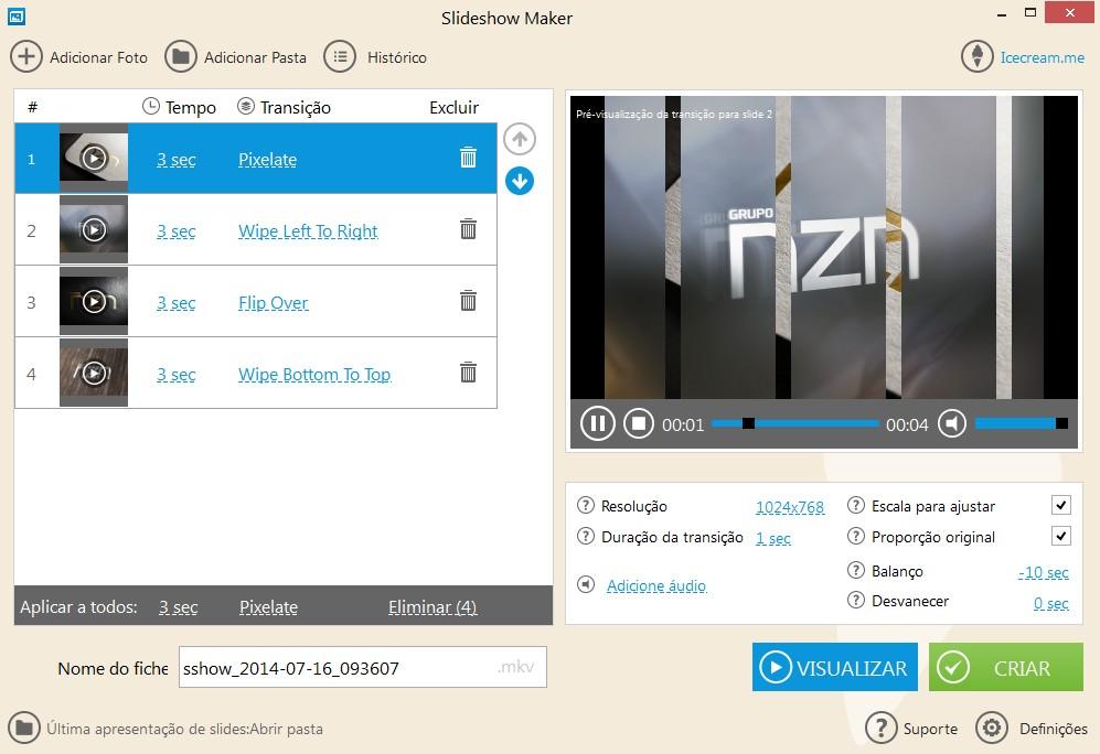Icecream Slideshow Maker - Imagem 2 do software