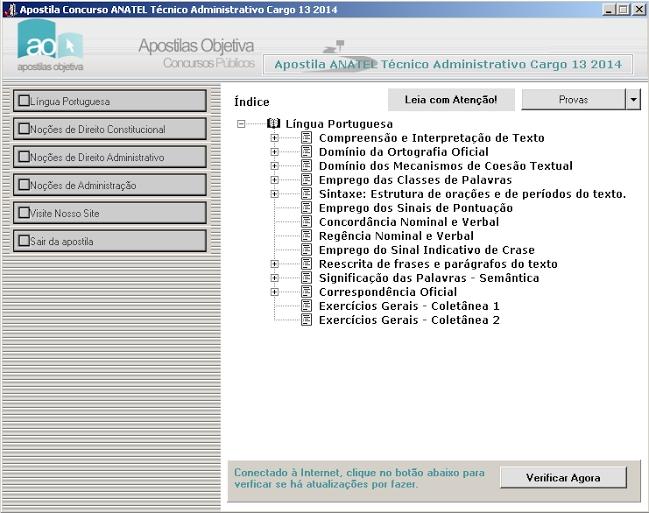Apostila Concurso Anatel 2014 - Técnico Administrativo Cargo 13 - Imagem 1 do software