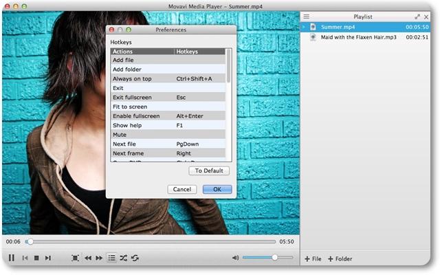 Movavi Media Player - Imagem 1 do software