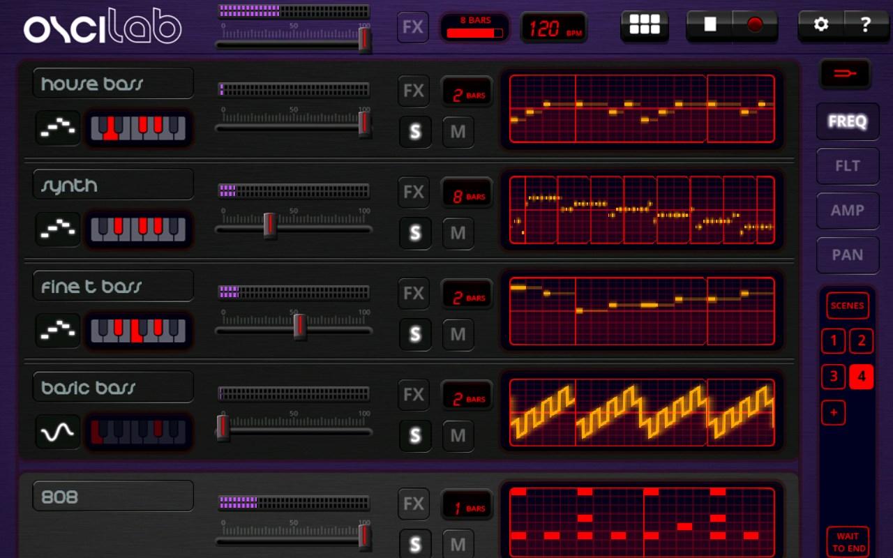 Oscilab - Imagem 1 do software
