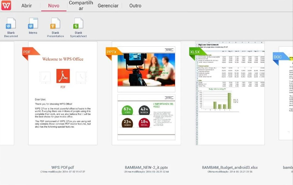 WPS Office: PPT, DOC, XLS, PDF - Imagem 1 do software