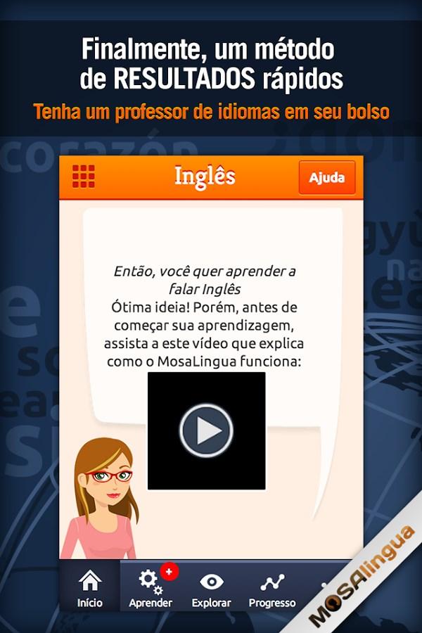 Aprender Inglês com MosaLingua - Imagem 1 do software