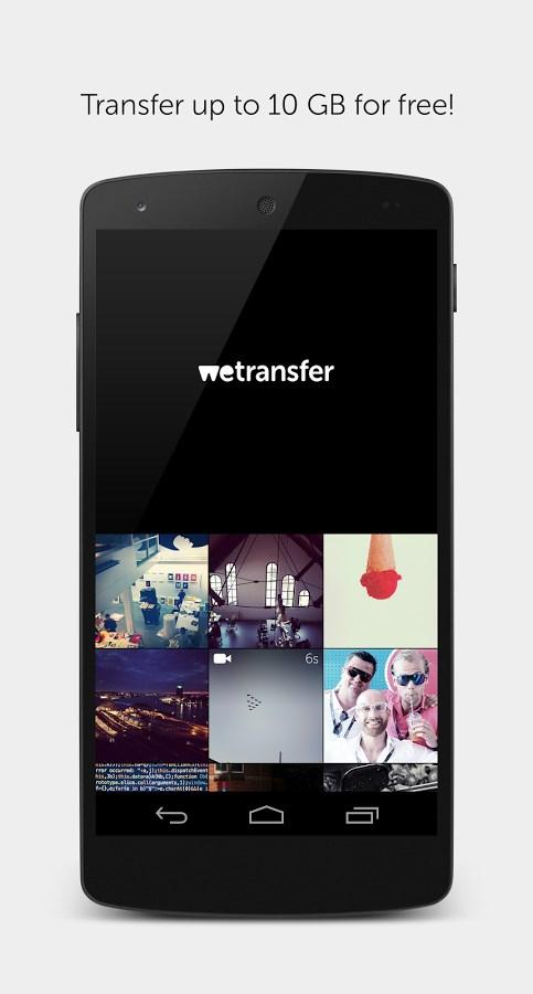 WeTransfer - Imagem 1 do software