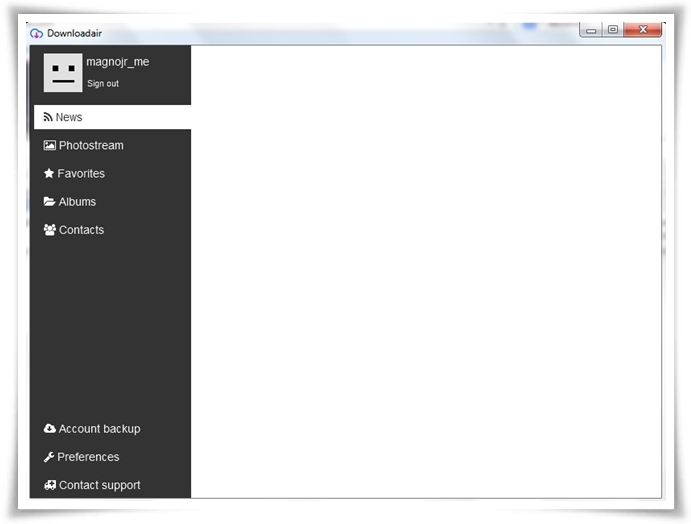 Downloadair - Imagem 3 do software