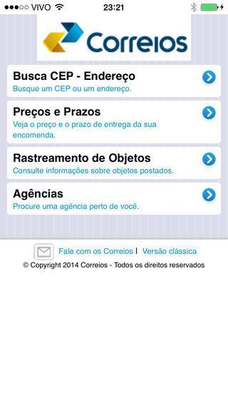 Correios Mobile - Imagem 1 do software