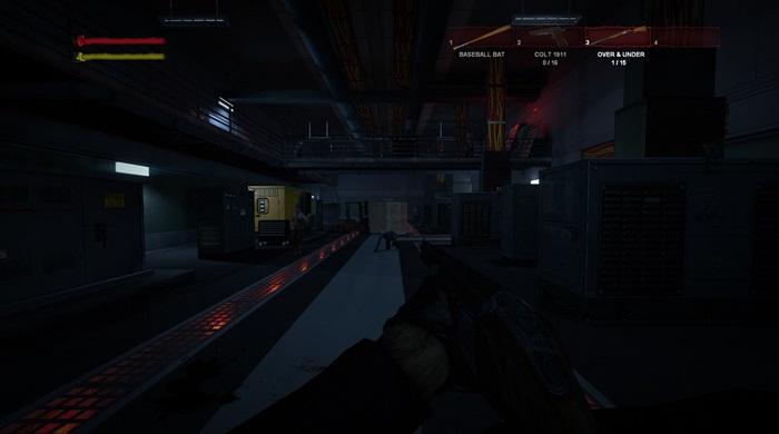 Os cenários escuros dão o tom de terror do game