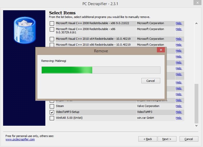 PC Decrapifier - Imagem 1 do software